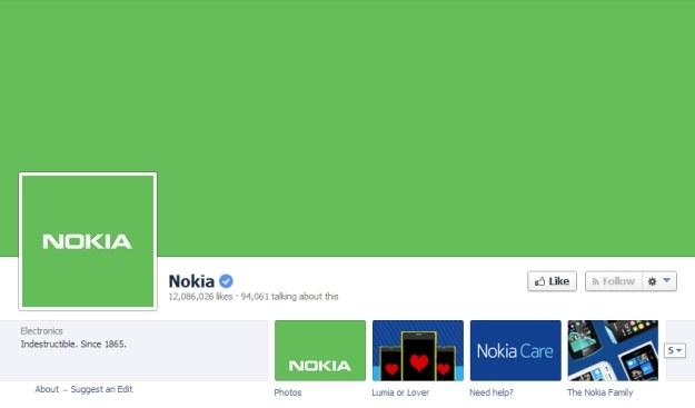 Tak wygląda Facebookowy profil Nokii /materiały prasowe