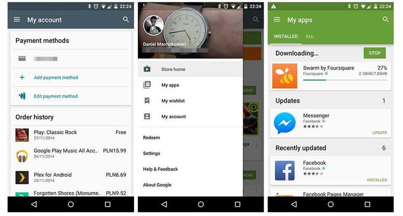 Tak wygląda Google Play do zmianie do wersji 5.1.11 /materiały prasowe
