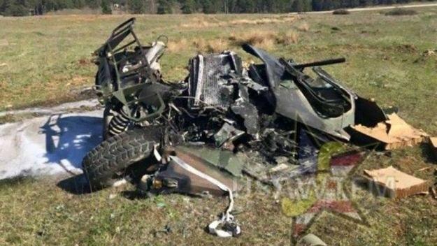 Tak wygląda Humvee po wyrzuceniu z samolotu /