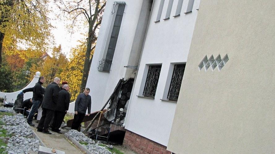 Tak wygląda miejsce pożaru. /Dariusz Proniewicz /RMF FM