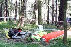 Tak wygląda miejsce wypadku motolotni w Rybniku