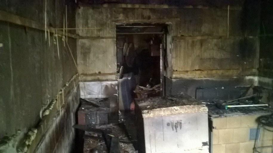 Tak wygląda mieszkanie po pożarze w Czechowicach-Dziedzicach. /Marcin Buczek /RMF FM