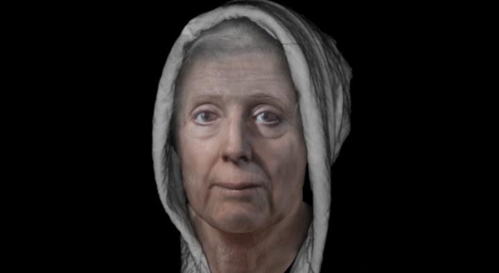 Tak wygląda twarz kobiety, która 313 lat temu miała spłonąć na stosie za czary /foto. dundee.ac.uk /