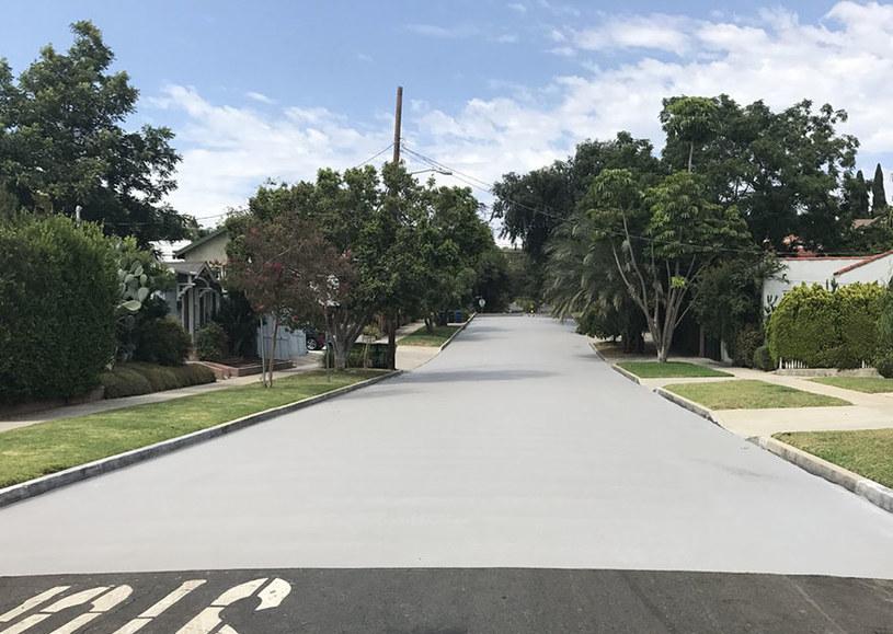 Tak wygląda ulica w LA po pomalowaniu /