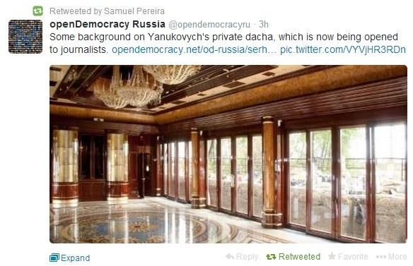 Tak wygląda wnętrze rezydencji /Twitter