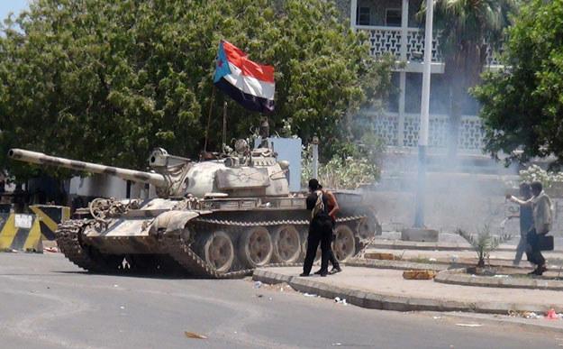 Tak wyglądają ulice miasta Aden fot. Saleh Al-Obeidi /AFP