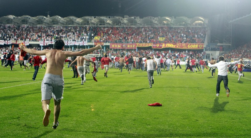 Tak wyglądał mecz Czarnogóry z Anglią w 2011 roku /East News