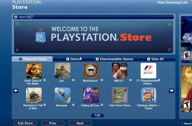 Tak wyglądała cyfrowa dystrybucja gier zaraz po premierze PS3 PlayStation /materiały prasowe