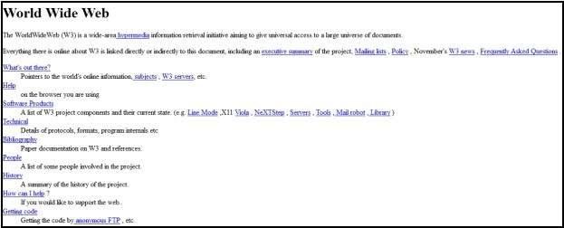 Tak wyglądała pierwsza strona WWW - zadebiutowała na komputerze CERN 20 grudnia 1990 roku /Internet