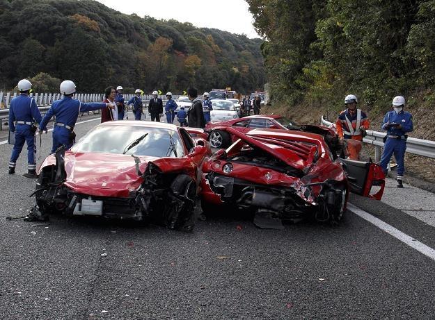 Tak wyglądało miejsce wypadku /AFP