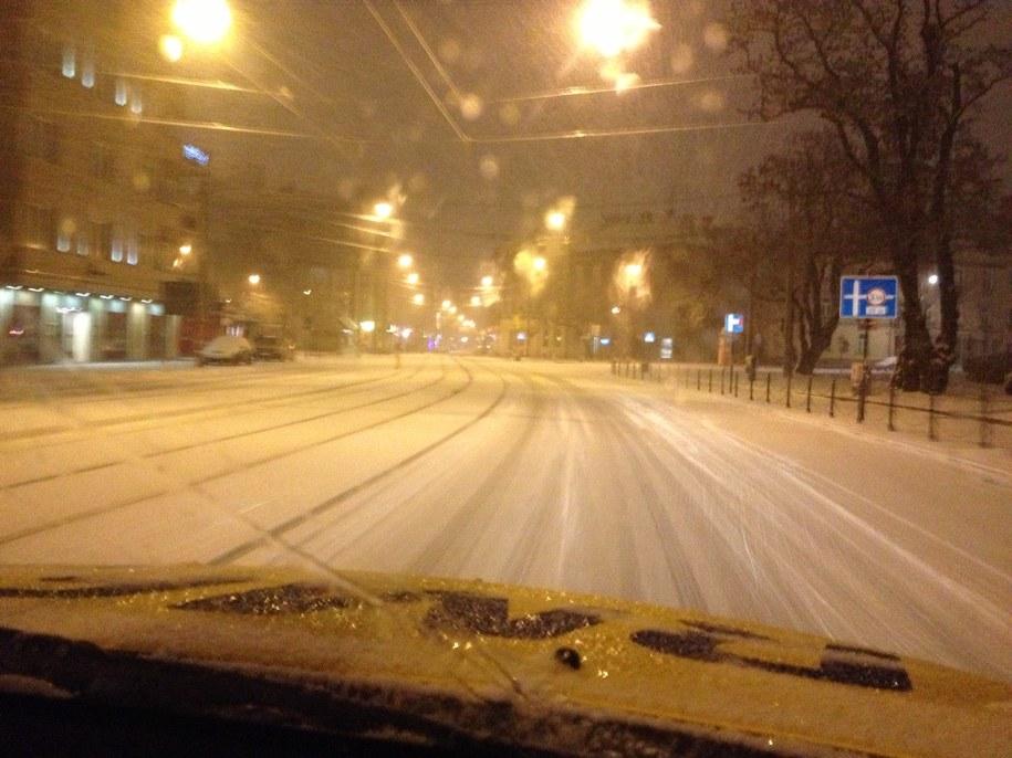 Tak wyglądały ulice w Krakowie o poranku /Maciej Grzyb /RMF FM