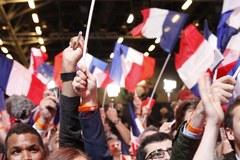 Tak zwolennicy Macrona zareagowali na sondażowe wyniki wyborów