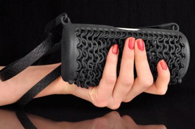 Taką niesamowitą torebkę można wydrukować dzięki drukarce firmy Cubify /materiały prasowe