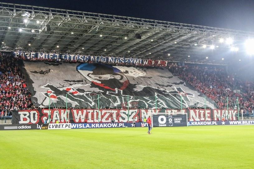 """Taką """"oprawę"""" przygotowali symaptycy Wisły /Jan Graczyński /East News"""