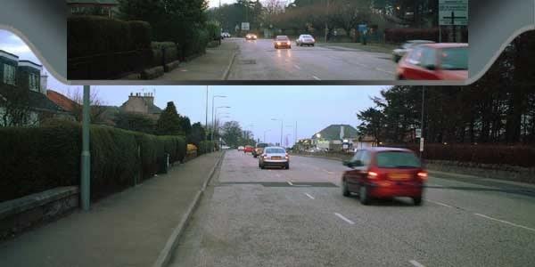 Taki obraz widzi w kasku kierowca (kliknij) /INTERIA.PL