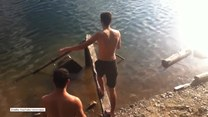 Taki skok do wody nie mógł się udać