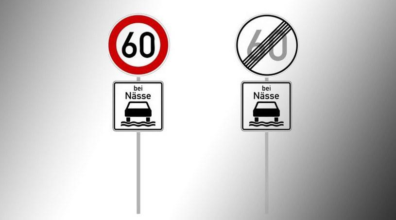 Takie ograniczenie prędkości dotyczą tylko sytuacji, kiedy droga jest mokra /