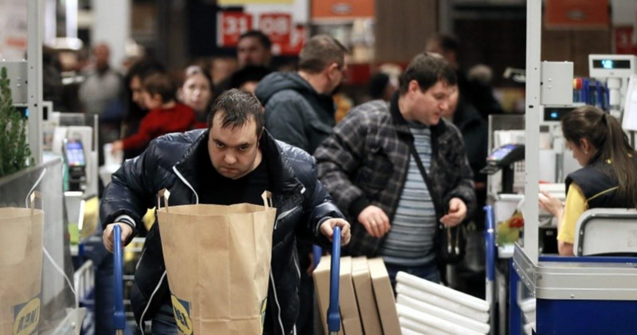 Takie sceny rozgrywały się w piątek w moskiewskim sklepie IKEA: