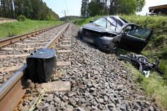 Tarchały Wielkie: Wypadek na przejeździe kolejowym