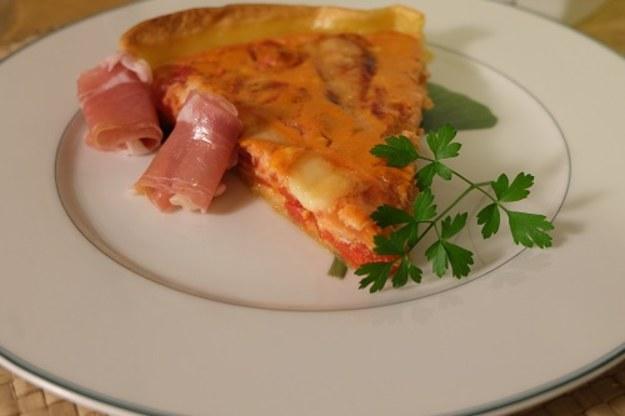 Tarta Basków  i na naszym stole w tym tygodniu.