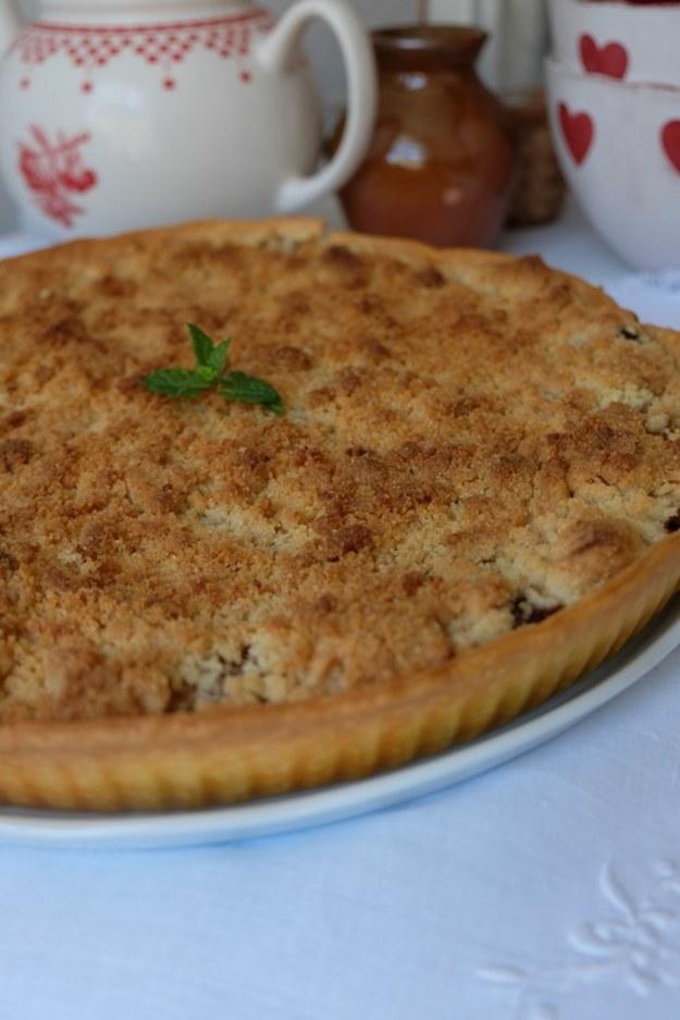 Tarta – crumble z rabarbarem i menu na nadchodzący tydzień