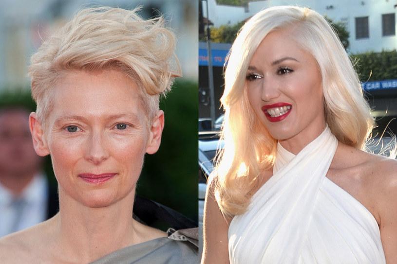 Te gwiazdy uwielbiają różne odcienie blondu: Tilda Swinton i Gwen Stefani /Getty Images