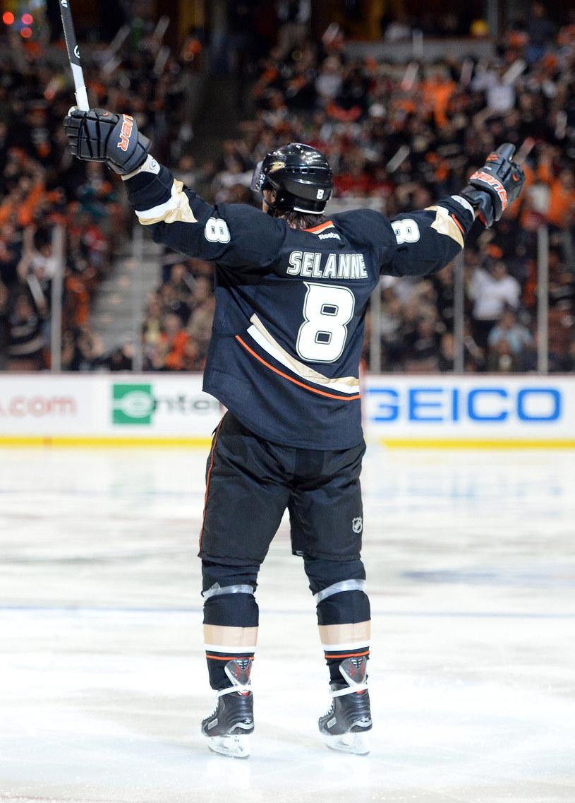 Teemu Selanne z Anaheim Ducks /AFP