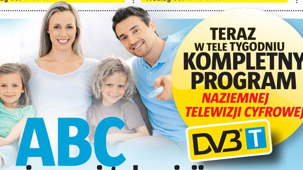 """""""Tele Tydzień"""" publikuje kompletny program Naziemnej Telewizji Cyfrowej /  /Tele Tydzień"""