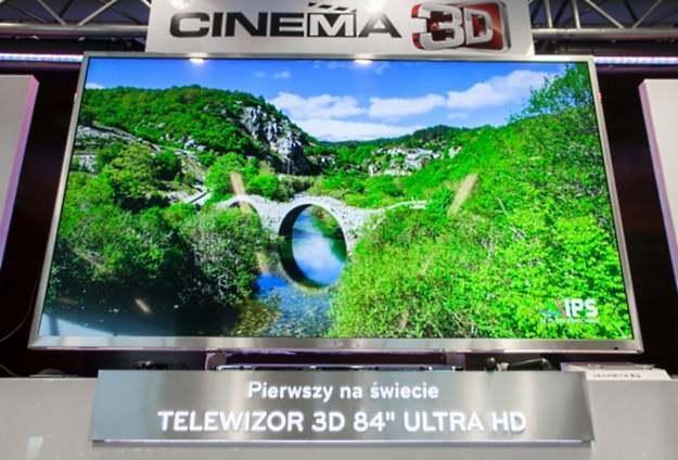 Telewizor LG UD 3D ma 84 cale /materiały prasowe