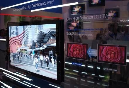 Telewizor Ultra HD firmy Samsung prezentowany w Berlinie /INTERIA.PL - Łukasz Kujawa