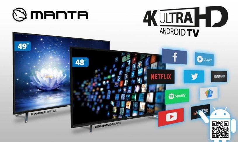 Telewizory Manta 4K z systemem Android /materiały prasowe