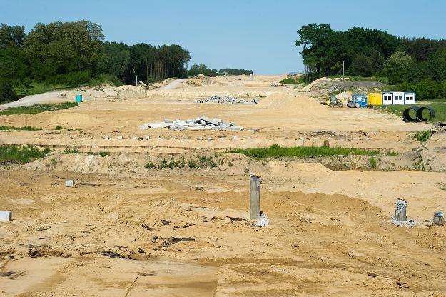 Teren budowy autostrady A2 /PAP
