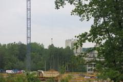 Teren budowy nowego szpitala w Krakowie-Prokocimiu