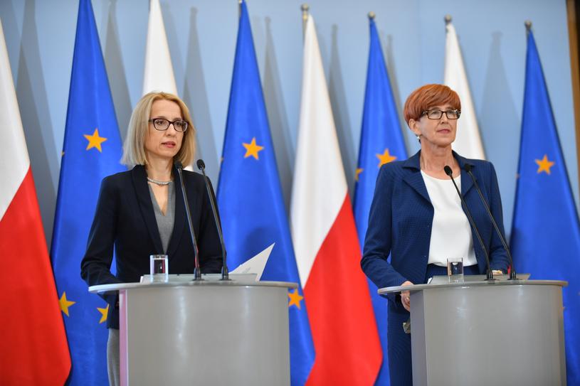 Teresa Czerwińska i Elżbieta Rafalska /Bartłomiej  Zborowski /PAP