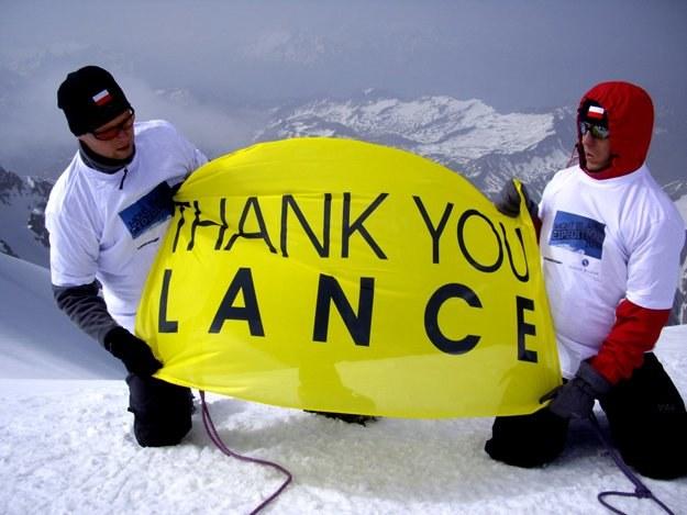 Termin wyprawy zbiegł się z terminem Tour de France 2010, w którym uczestniczył Lance Armstrong /materiały prasowe