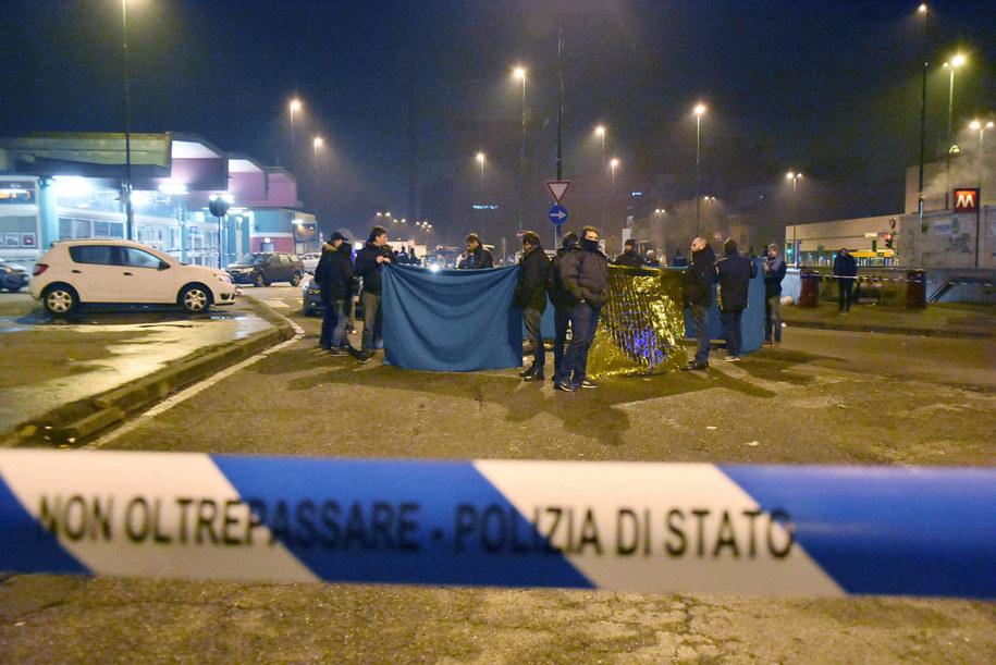 Terrorystę, który zbiegł z miejsca przestępstwa, zastrzelili cztery dni później pod Mediolanem włoscy policjanci /DPA/Daniele Bennati /PAP