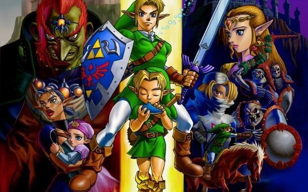 The Legend of Zelda: Ocarina of Time 3D - motyw graficzny /Informacja prasowa