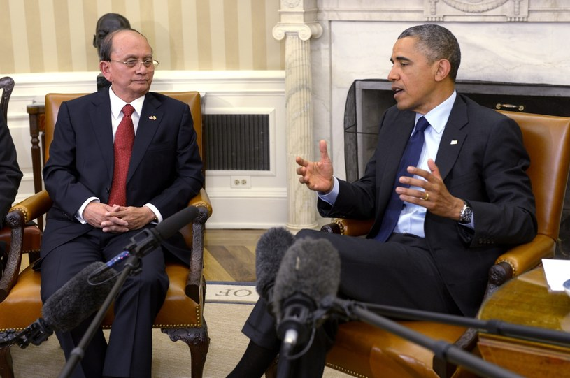 Thein Sein i Barack Obama /PAP/EPA