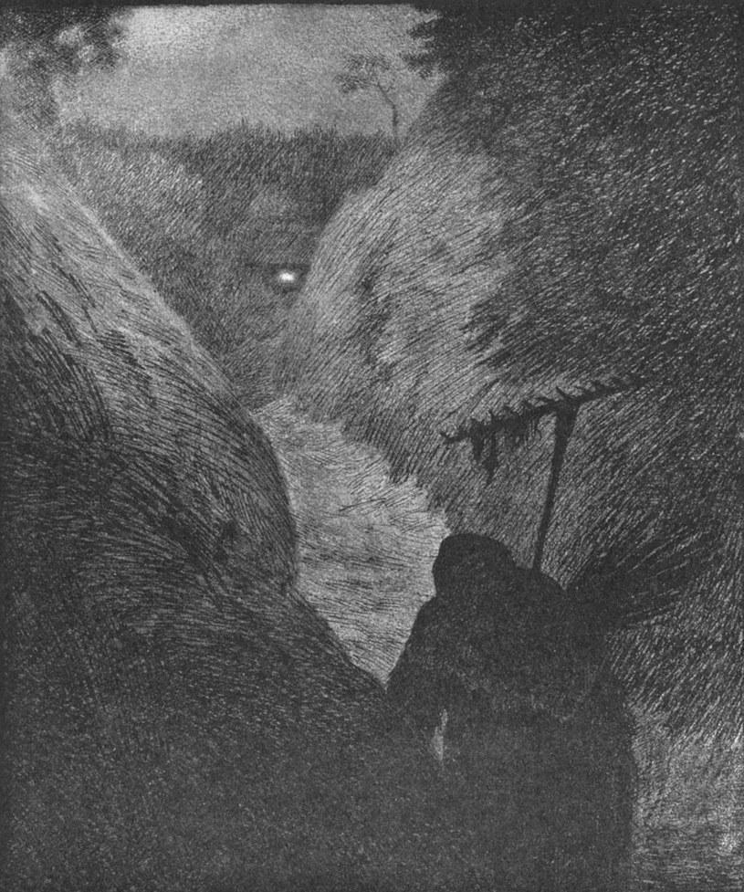 "Theodor Kittelsen - ""Nadciąga Zaraza"" (1896 r.) /"