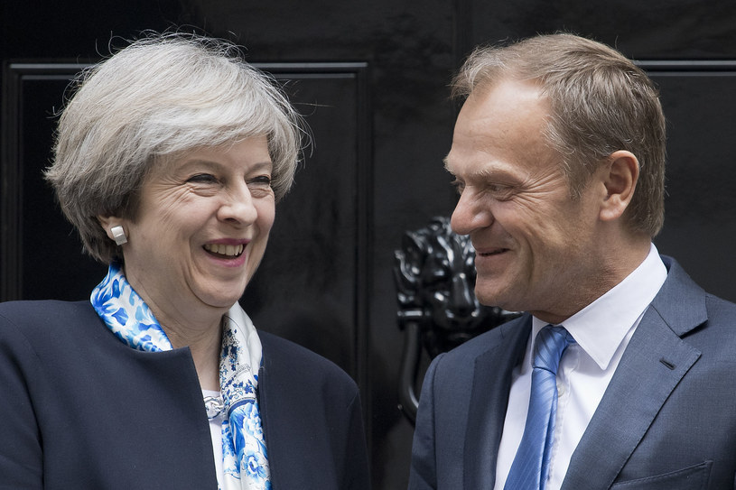 Theresa May i Donald Tusk /AFP