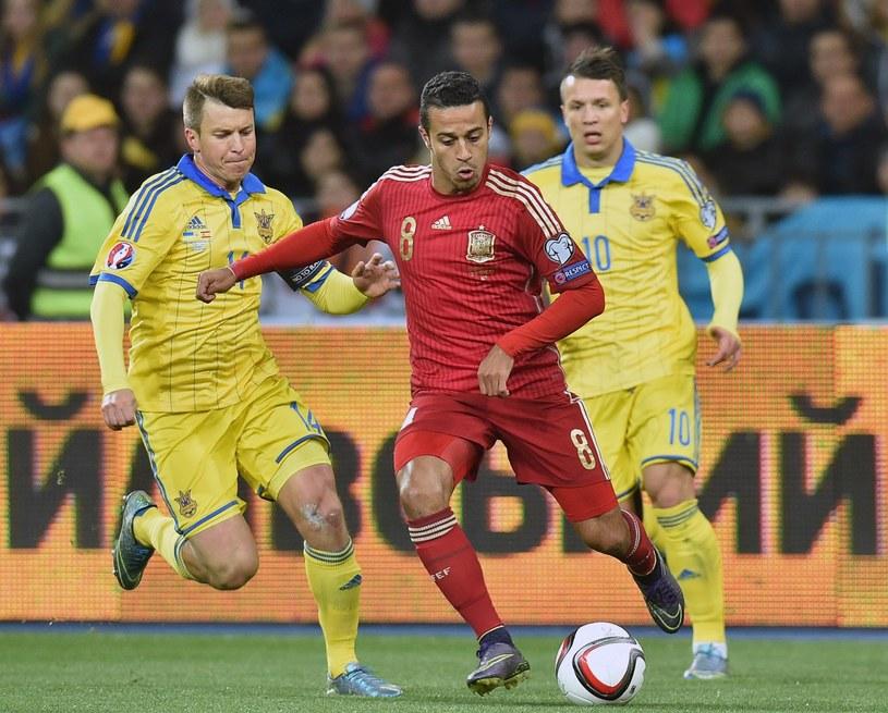 Thiago Alcantara w barwach reprezentacji Hiszpanii /AFP
