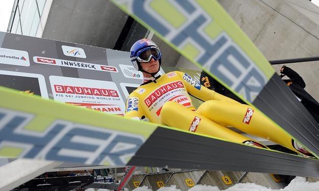 Thomas Morgenstern jest na prostej drodze do zwycięstwa w Turnieju Czterech Skoczni /AFP