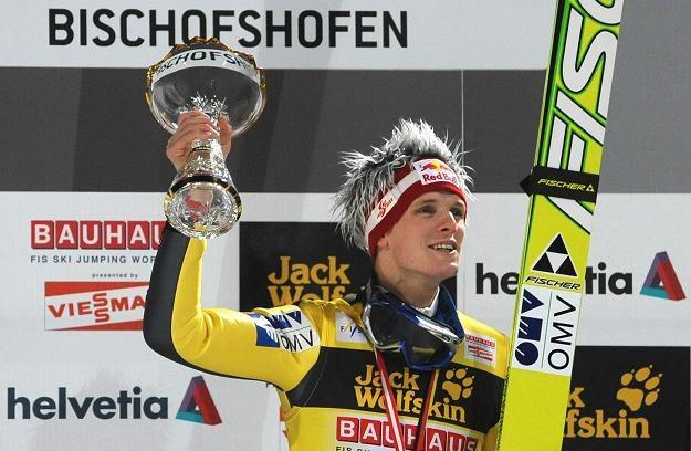 Thomas Morgenstern świętuje swój sukces /AFP