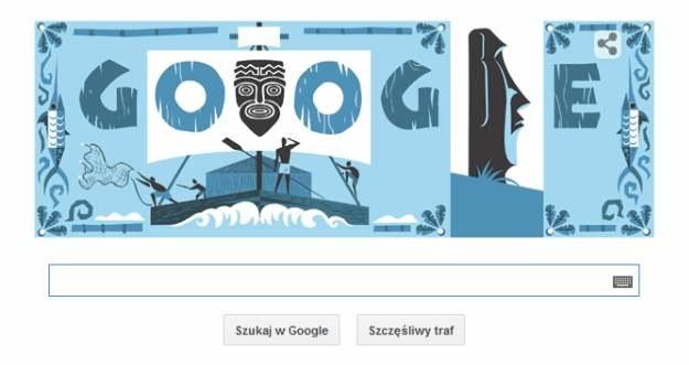 Thor Heyerdahl w Google Doodle /materiały prasowe