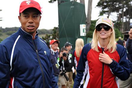 Tiger Woods i jego żona  Elin Nordegren /AFP