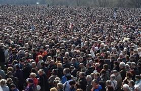Tłumy wiernych w Krakowie-Łagiewnikach