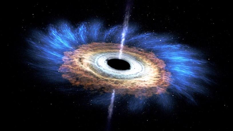 To czarne dziury odpowiadają za powstawanie wysokoenergetycznego promieniowania kosmicznego? /NASA