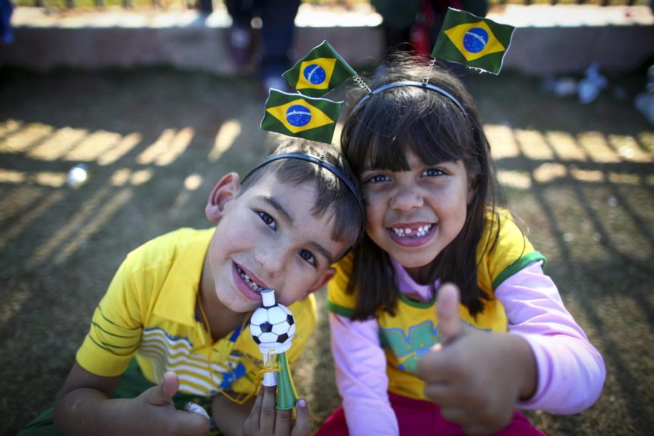 To mali brazylijscy kibice. A Wy komu będziecie kibicować? /DIEGO AZUBEL /PAP/EPA