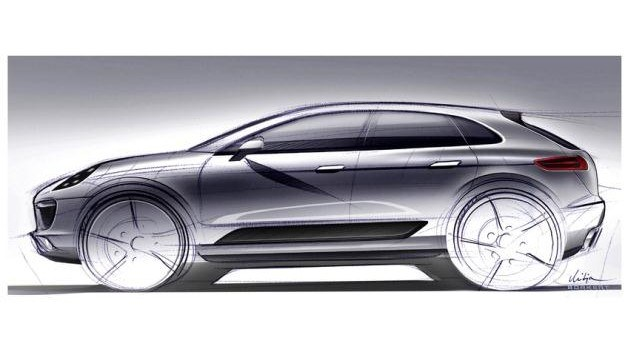 To na razie jedyna oficjalna grafika przedstawiająca nowy model SUV-a Porsche, czyli Macana. Jego linie będą bardziej dynamiczne niż odpowiednika w gamie Audi - Q5. /Porsche