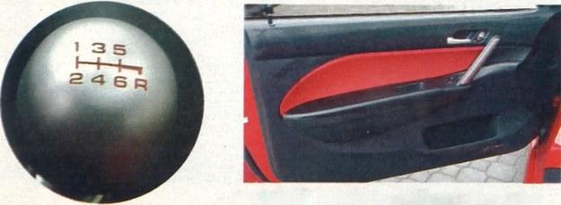 To widać typowa cecha szybkich hatchbacków: malutkie kieszonki w drzwiach. /Motor